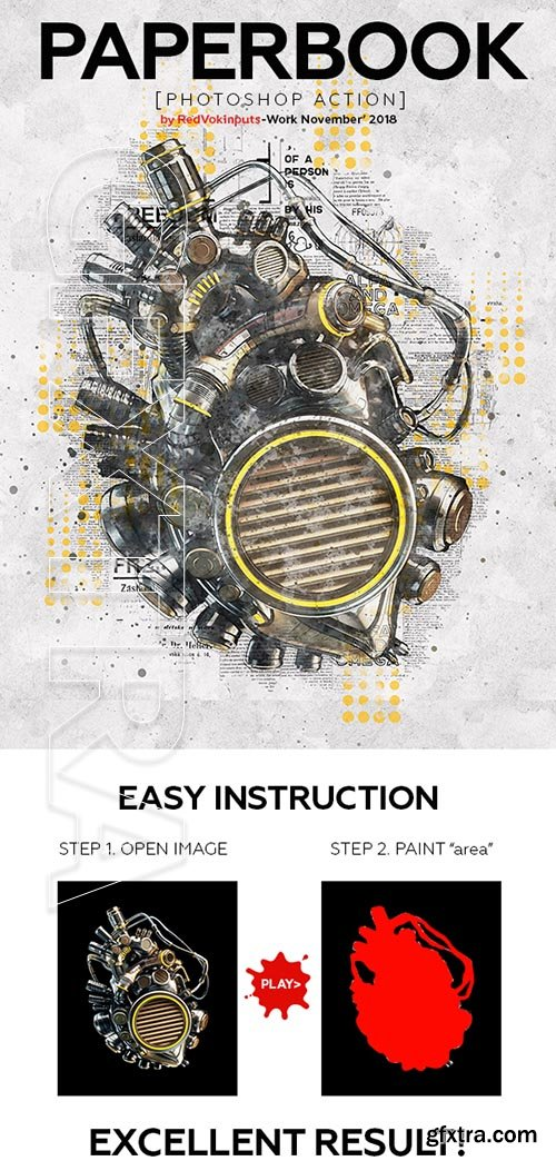 GraphicRiver - Paper Book Photoshop Action 22892555