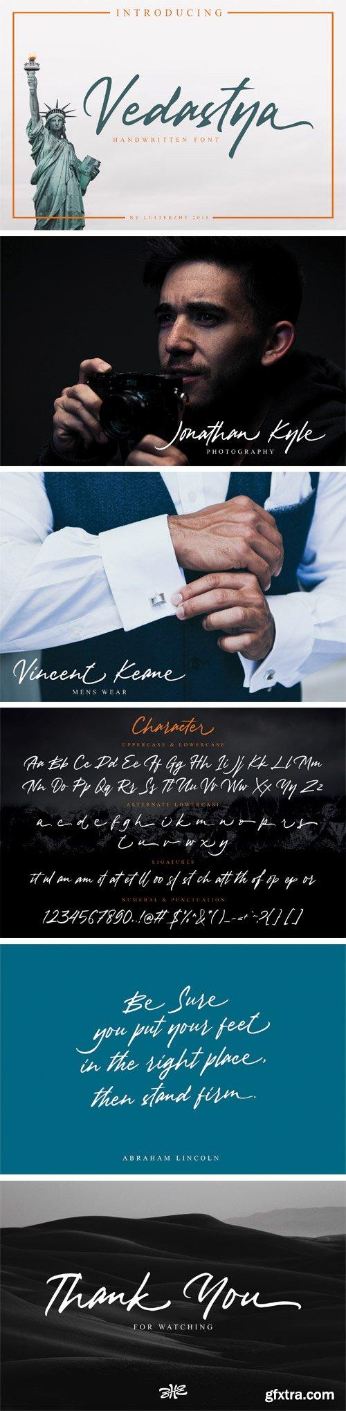 Fontbundles - Vedastya Script Font 152724