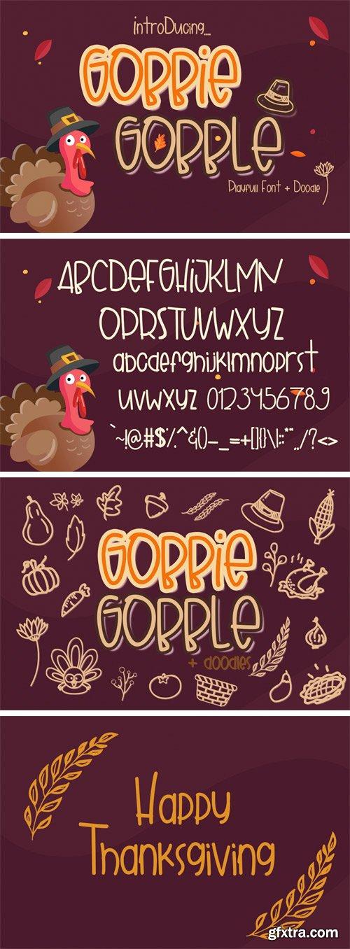 Fontbundles - Gobbie Gobble 153003