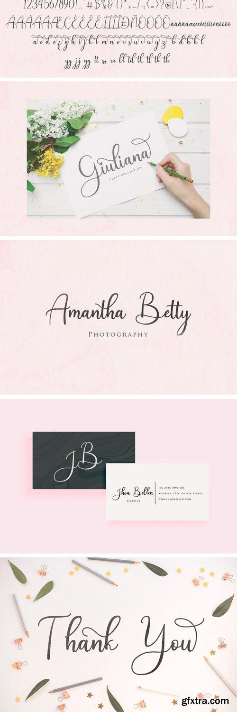 CM - Andina - Modern Script Font 3065423