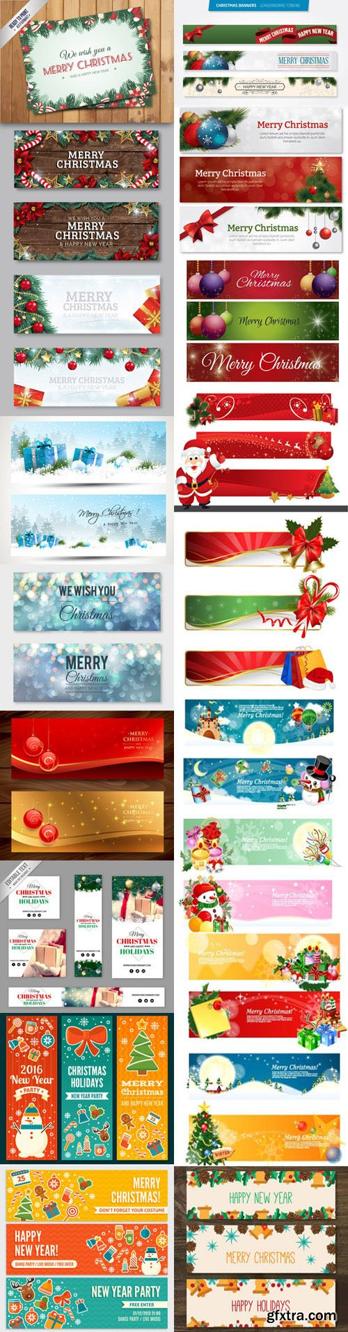Christmas Banners Vector Collection 1 [Ai/EPS]