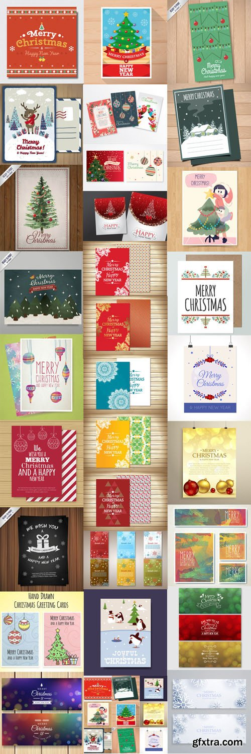 Christmas Cards Vector Collection 2 [Ai/EPS]