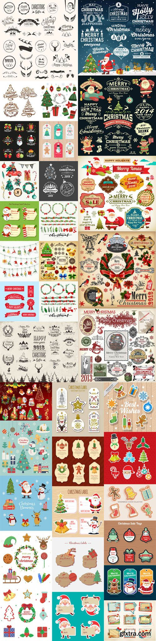Christmas Elements Vector Pack 1 [Ai/EPS]