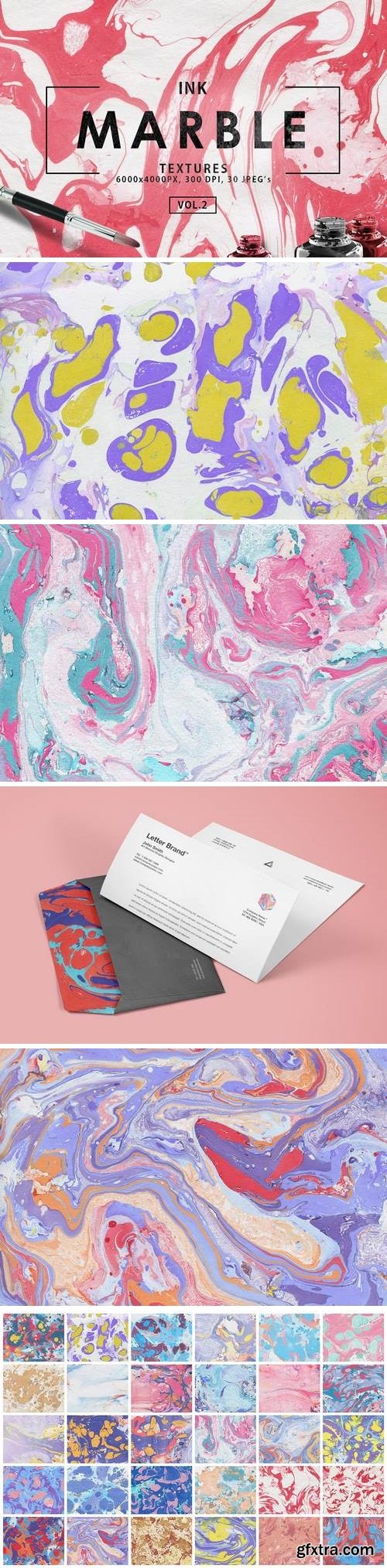 Multicolor Marble Ink Backgrounds Vol. 2