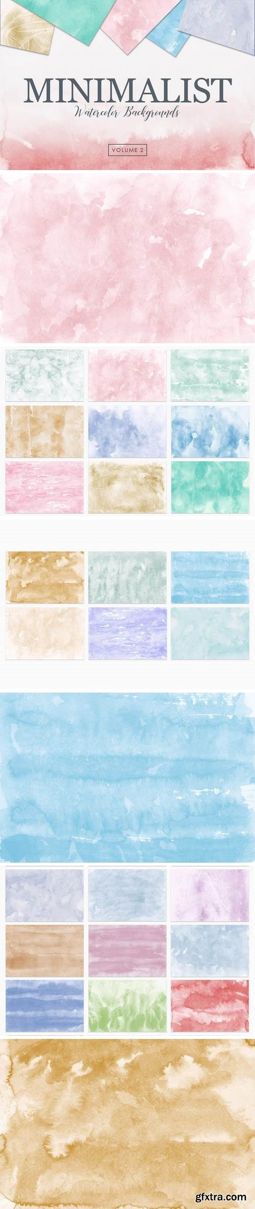 Minimalist Watercolor Backgrounds Vol. 2