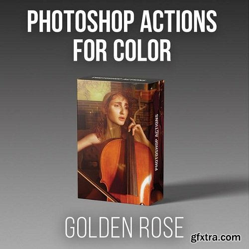 RGGEDU - Photoshop Actions for Color | Golden Rose Action