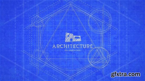 Videohive Blueprint Logo Reveal 22971468