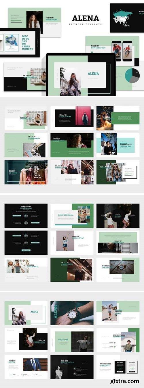 Alena : Minimal Style Keynote Template