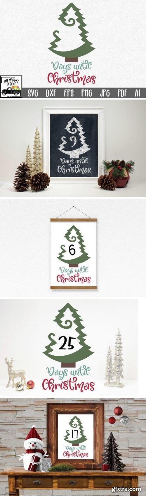 CF - Days Until Christmas – Countdown SVG Cut File 773695
