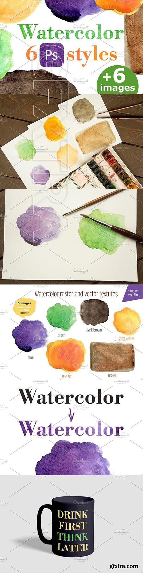 CreativeMarket - Watercolor PC style for text, object 3210186