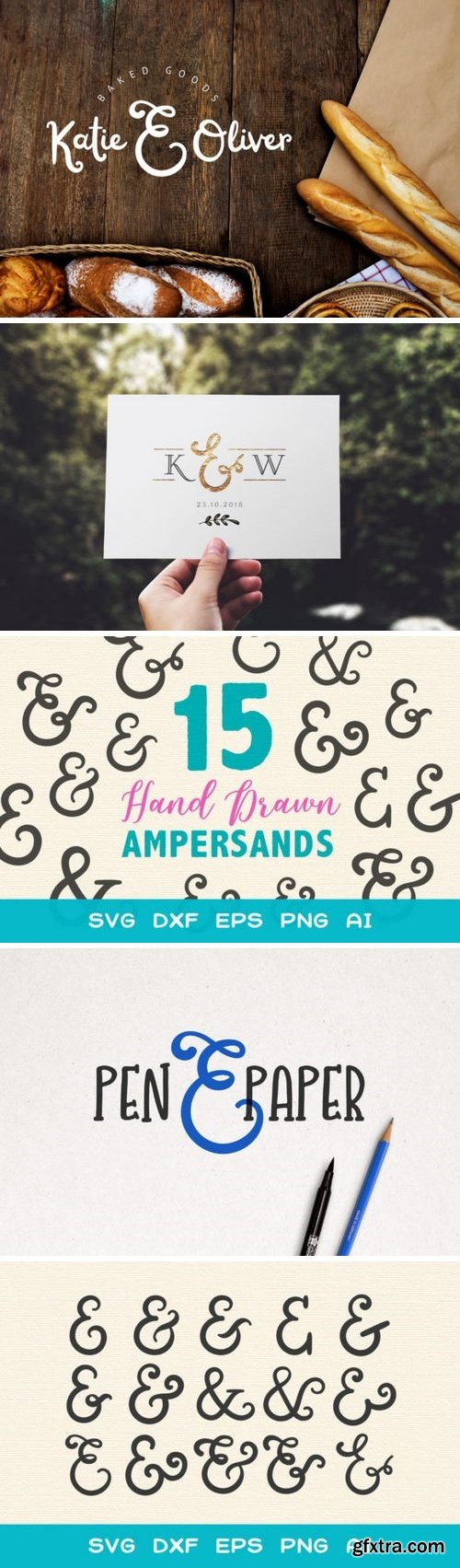 CF - 15 Ampersands for Crafters SVG 772814