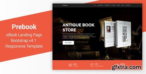 ThemeForest - Prebook v1.0 - eBook Landing Page Responsive Bootstrap 4 Template - 22764498