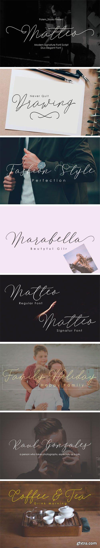 Fontbundles - Matteo Script Duo Font 151924