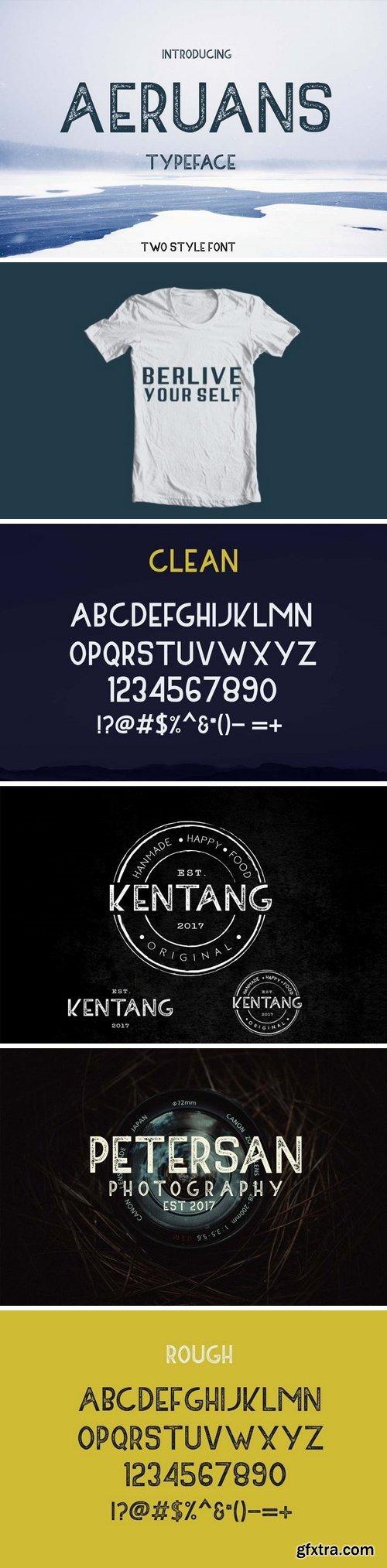 Fontbundles - AERUANS TYPEFACE 34117