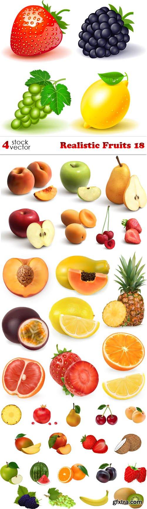 Vectors - Realistic Fruits 18