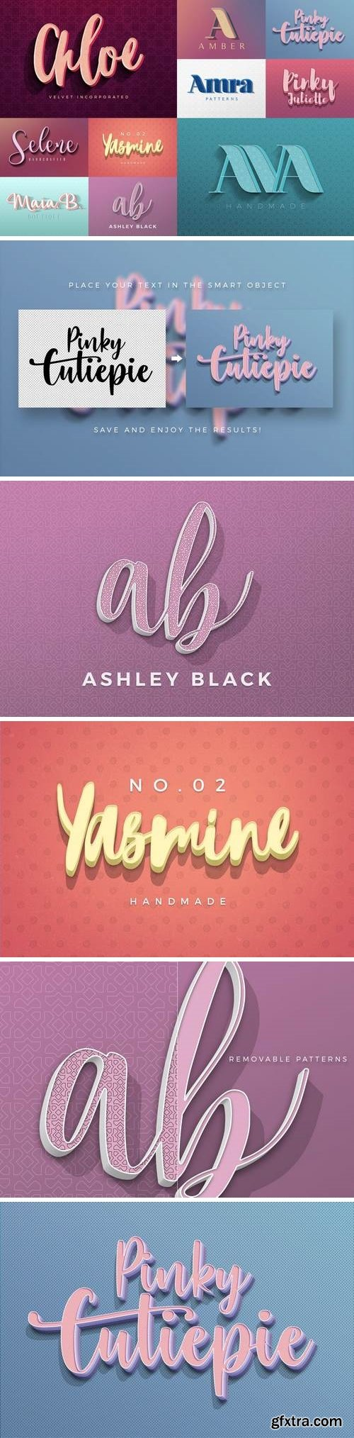 Feminine Colorful Text Effects