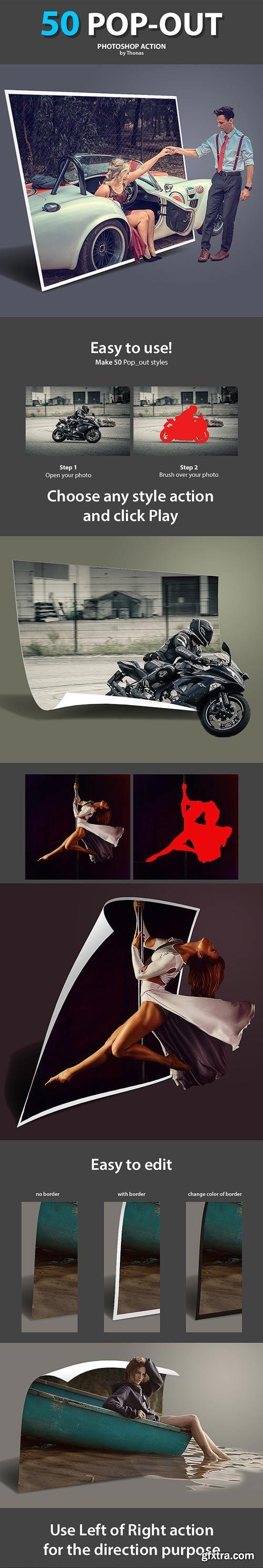 GraphicRiver - 50 Pop-out Photoshop Action - 22738573