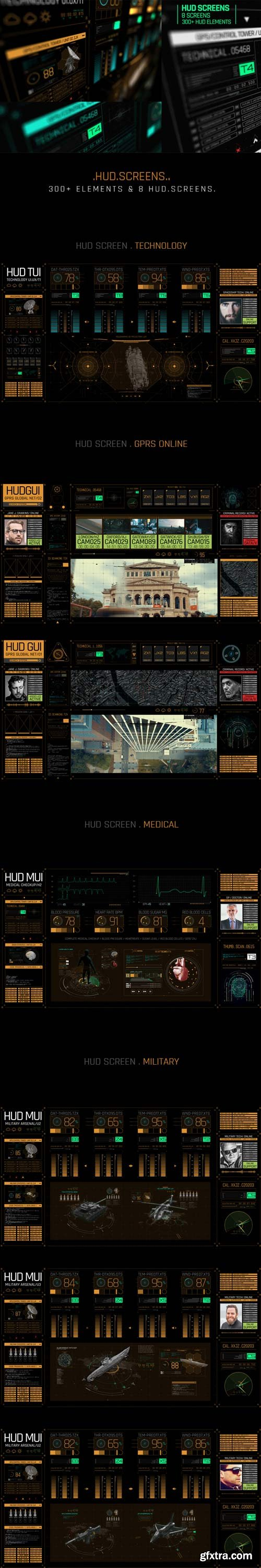 Videohive - HUD Screens - 22837246