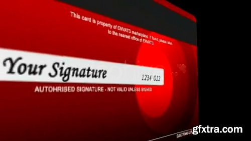 Videohive 3D Credit Card 103825