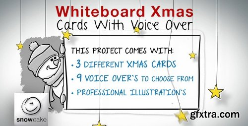 Videohive Whiteboard Xmas Cards With Voice Over 6277688