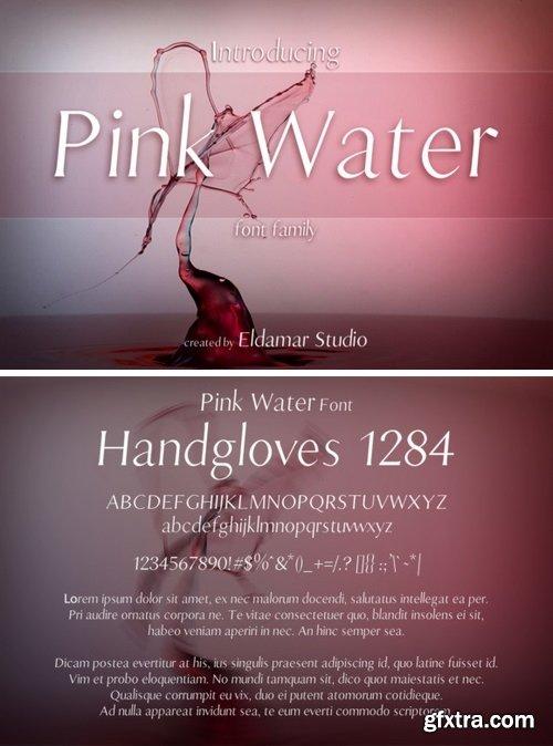 FontBundles - Pink Water Font 119428