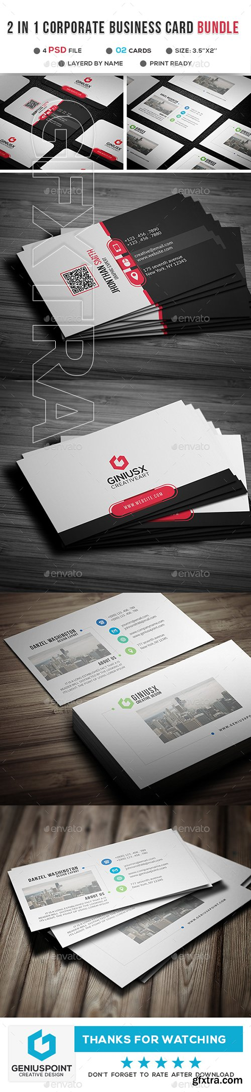 GraphicRiver - 2 in 1 Business Card Bundle 22865394