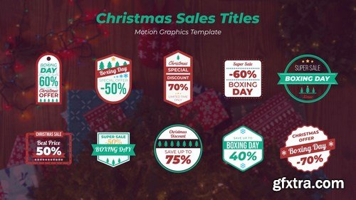 MA - Christmas Sales Titles Motion Graphics Templates 148049