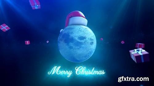 MA - Christmas Moon Stock Motion Graphics 148361