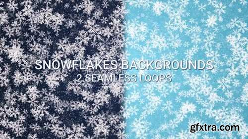 MA - Dark-Light Blue Snowflakes Backgrounds Stock Motion Graphics 148331