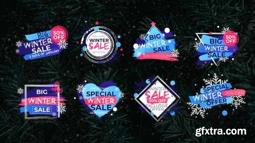 MA - 8 Winter Sale Titles Motion Graphics Templates 147999