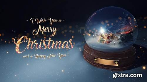 MA - Christmas Snow Globe Cards Stock Motion Graphics 55882