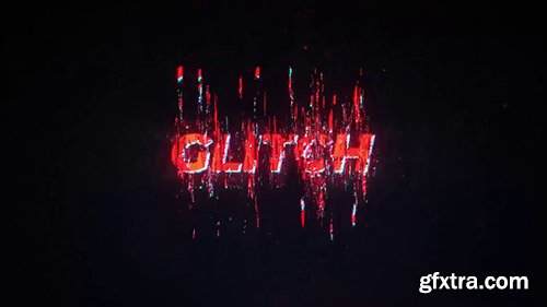Vertical Glitch Text and Logo 146283