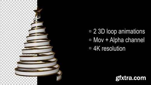 MA - 3D Loop Christmas Tree Stock Motion Graphics 55709