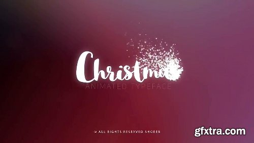 Videohive Christmas- Animated Typeface 22839317