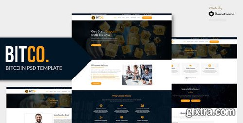 ThemeForest - BITCO v1.0 - Bitcoin and Cryptocurrency PSD Template - 22997833