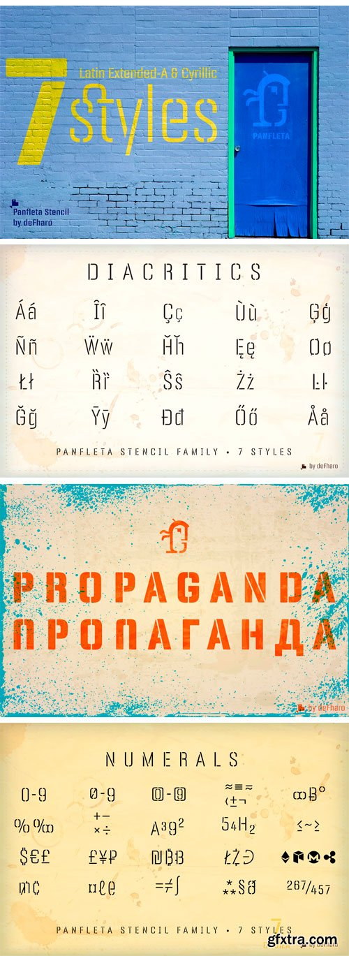 Panfleta Stencil Font Family