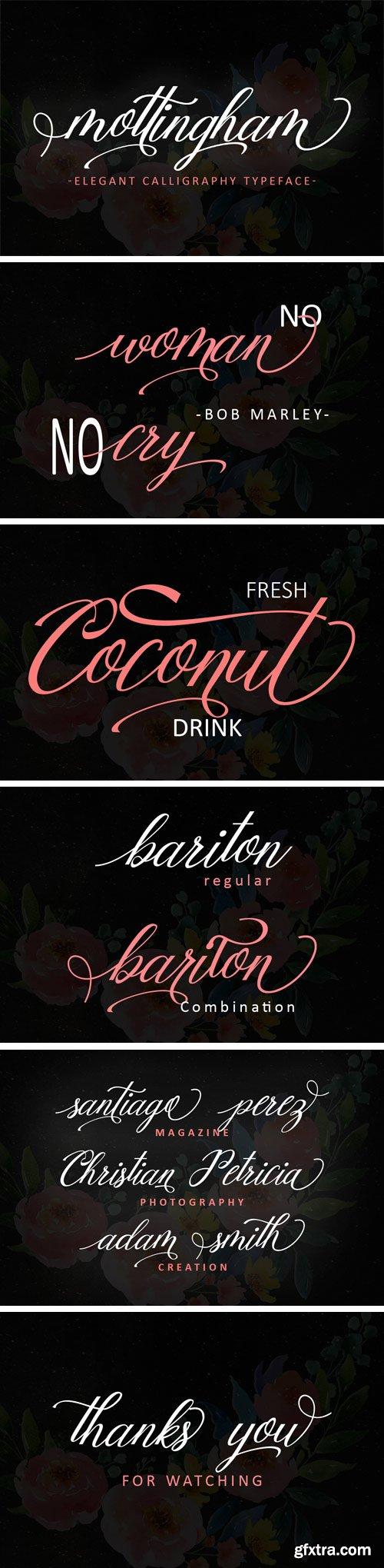 Fontbundles - Mottingham Elegant Calligraphy Typeface 176778