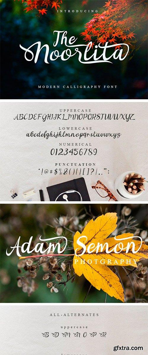 CM - Noorlita Beautiful Calligraphy Font 3237984