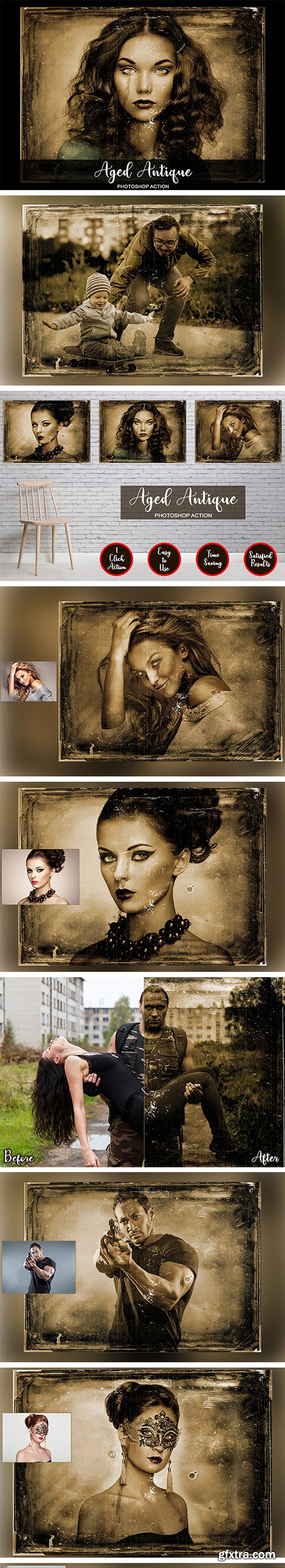Graphicriver Aged Antique Photoshop Action 22933869