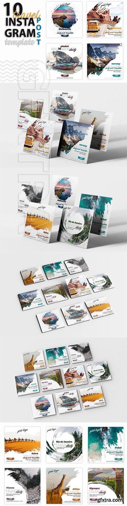 CreativeMarket - Instagram Post Template-Travel 3219450