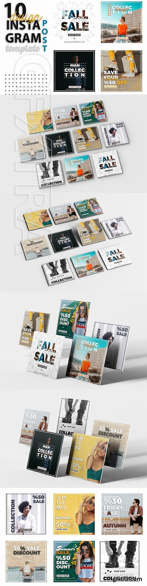 CreativeMarket - Instagram Post Template - Sale 3212471