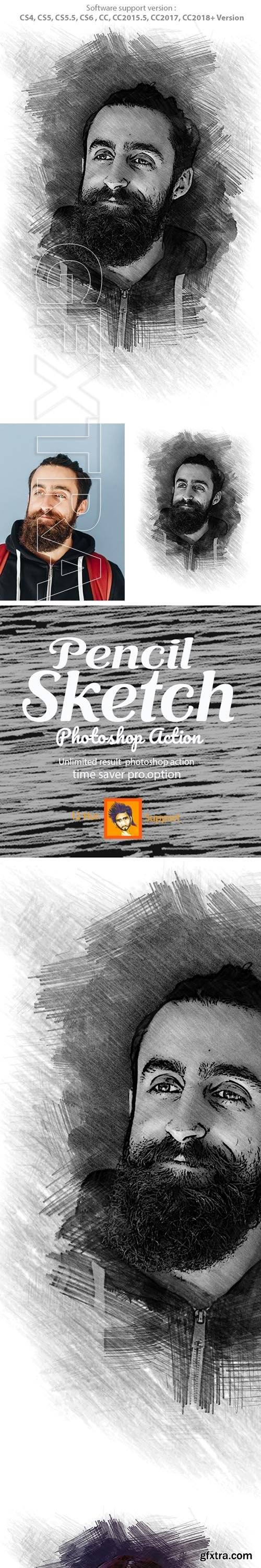 GraphicRiver - Pencil Sketch Photoshop Action 22896928