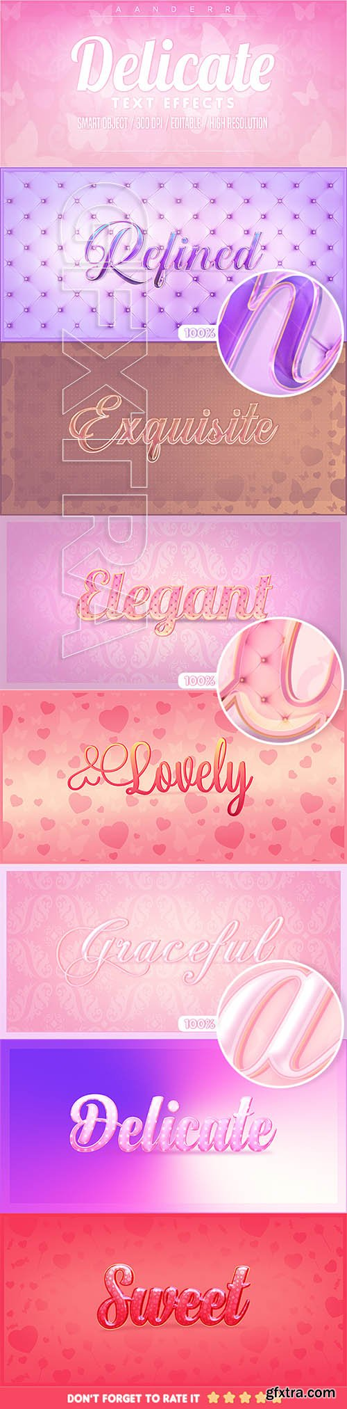GraphicRiver - Delicate Photoshop Text Effects 22931110