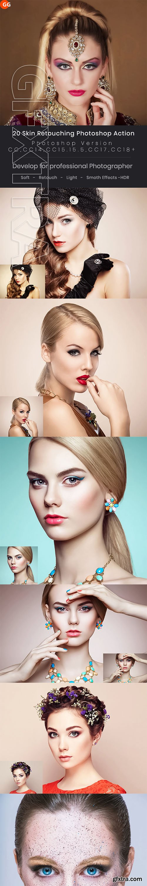 GraphicRiver - 20 Skin Retouching Photoshop Action 22937979