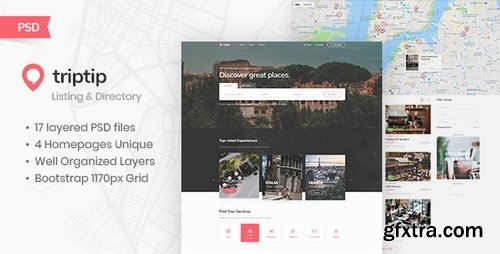 ThemeForest - TripTip - Listing & Directory PSD Template 22976726
