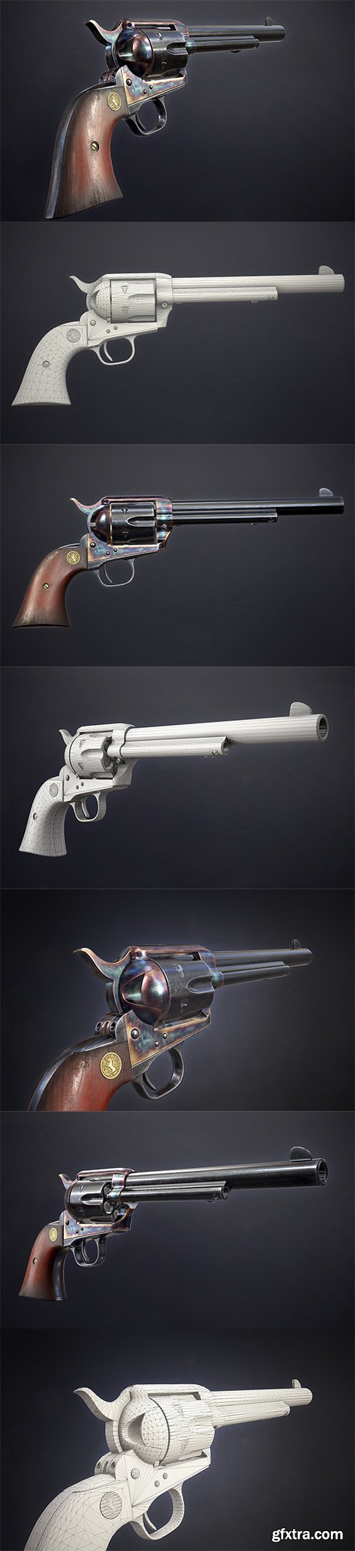 Cubebrush - Colt Single Action Army - Peacemaker