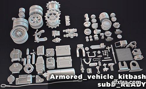 Cubebrush - HQ Armored vehicle kitbash subD ready