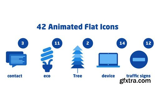 MA - 42 Animated Flat Icons After Effects Templates 84138