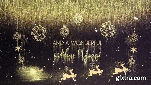 MA - Golden Christmas Wishes After Effects Templates 148268