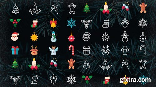 MA - Animated Christmas Icons Specials Pack Stock Motion Graphics 147277
